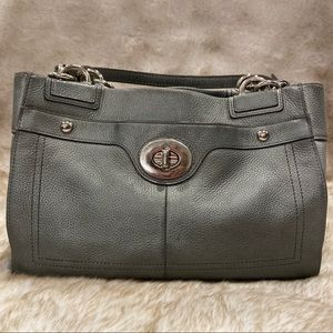 COACH Gray/Silver 3 Section Tote